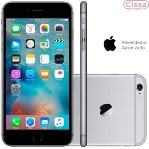 [CISSA MAGAZINE] Smartphone Apple iPhone 6S 64GB Desbloqueado Cinza Espacial - R$3120