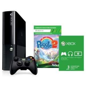 [Ponto Frio] Xbox 360 4 GB + Jogo Peegle 2 + Xbox Live Gold 3 meses - R$904