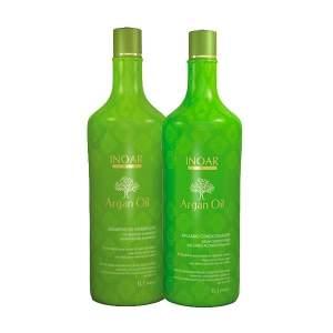 [Natfarma] Kit Inoar Argan Oil Shampoo de Hidratação + Bálsamo Condicionador 1L - R$60
