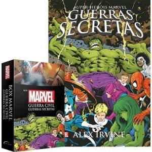 [Submarino] Box Marvel - Guerra Civil / Guerras Secretas - 1ª Ed. + Pôster - R$25