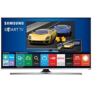 "[EFACIL] Smart TV 40"" LED Full HD UN40J5500 WiFi, 2 USB, 3 HDMI, DTV, 120Hz, Smart View 2.0, Game TV - Samsung POR R$ 1795"