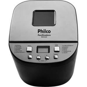[Voltou- Sou BArato] Panificadora Philco Eletronic 12 Programas Preta - 110 volts por R$ 165