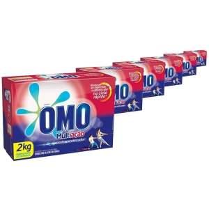 [EXTRA - voltou] Kit Detergente em Pó Omo Multiação 2kg – 6 unidades - por R$75
