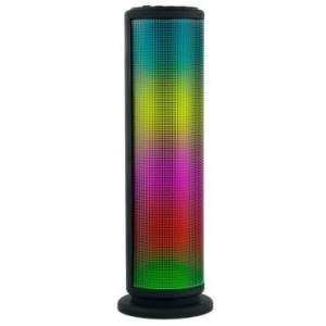 [RICARDO ELETRO] Caixa de Som Bluetooth Torre 10W RMS com Bateria Recarregável, Rádio FM, Entrada USB, Auxiliar e Micro SD - D-BH1001 Prata - R$130