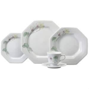 [EFACIL] Aparelho de Jantar/Chá Porcelana 30 Peças Encanto - Schmidt R$ 372