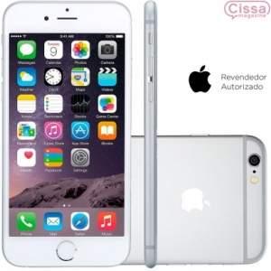 """[CISSA MAGAZINE] Smartphone Apple iPhone 6 16GB Desbloqueado Prateado iOS 8, Memória 16GB, Câmera 8MP, Tela 4.7"""" - R$2800"""