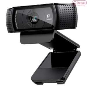 [CISSA MAGAZINE] Webcam Logitech Pro HD C920 15MP 960-000949 Preto Captura de Vídeo e Foto, Rastreio de Rosto, Detecção de Movimento - R$329