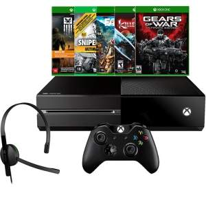 [ANERICANAS] Console Xbox One 500GB + 5 Jogos + Headset com Fio + Controle Wireless - R$ 1362,82 NO CARTÃO AMERICANAS OU R$ 1444,92 NO BOLETO COM O CUPOM MEGAOFF10