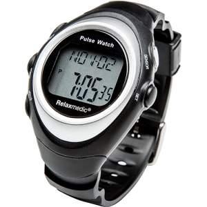 [SOU BARATO] Relógio Monitor Cardíaco de Pulso Relaxmedic 6 Funções Medidor Calorias Touch Trainer Rlx8 Rm-Re201 - R$36