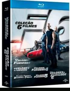 [SARAIVA] Velozes e Furiosos - Coleção Com 6 Filmes - 6 Discos - Blu-Ray por R$ 50