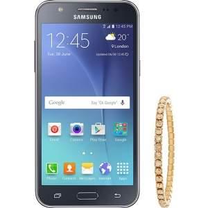"[SHOPTIME] Smartphone Samsung Galaxy J5 Duos Android 5.1 Tela 5"" 16GB 4G Câmera 13MP - Preto + Pulseira Swarovski - R$729"
