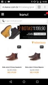 [Kanui] 2 Botas em diversos modelos por R$199