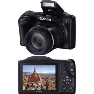[AMERICANAS] Câmera Digital Semiprofissional Canon Powershot SX400IS 16MP Zoom Óptico 30x Cartão 8GB Preta - R$485