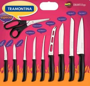 [Americanas] Conjunto de facas Tramontina 10 peças  -R$45