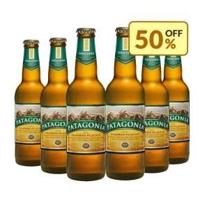 [Empório da Cerveja] Cerveja Patagonia Bohemian Pilsener Long Neck 355ml - Caixa com 6 unidades - por R$29