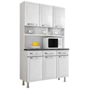 [EFACIL] Armário de Cozinha Itanew , de Aço, com 6 Portas e 3 Gavetas, Branco - Itatiaia POR R$ 622