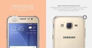 """[Saraiva] Smartphone Samsung Galaxy J5 Duos Dourado 4G Tela 5"""" Android 5 Câmera 13Mp 16Gb por R$ 752"""