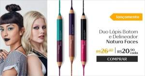 [Natura] Duo Lápis Batom e Delineador Faces - 3g