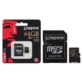 [Extra] Cartão de memória 64GB classe 10 + Adaptador Kingston - R$106