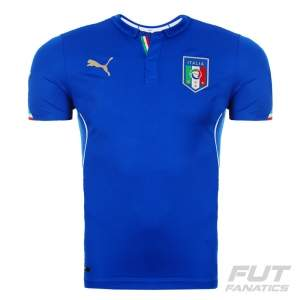 [Fut Fanatics] Camisa Puma Itália Home 2014 Juvenil - R$41