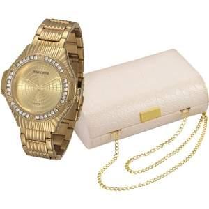 [SHOPTIME] Kit Relógio Feminino Mondaine Analógico Fashion 69216lpmvde1k1 - R$99