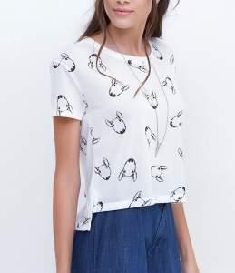 [Renner] Blusa Cropped Estampada de Cachorrinho - R$20