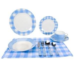 [Extra] Aparelho de Jantar Hazi 80010011 em Porcelana - 40 Peças por R$ 180