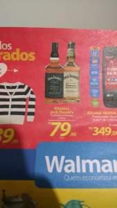 [Walmart/Loja Fisica] Whiskey Jack Daniel's Tradicional ou Honey 1L por R$ 80