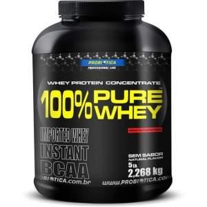 [NETSHOES] 100% Pure Whey Protein 2,268 kg - Probiótica por R$ 178,42