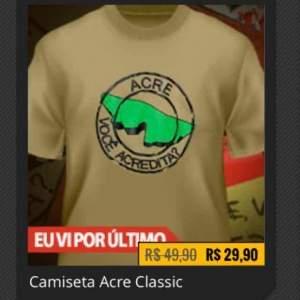 [Nerd Store] Camiseta Acre Você Acredita? - R$30
