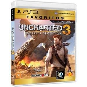 [Americanas] Uncharted 3 Edição Favoritos - Ps3 - R$30