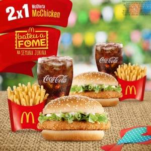 [Mc Donalds] Comprei 1 McOferta McChicken e leve  2 - Pegue Cupom