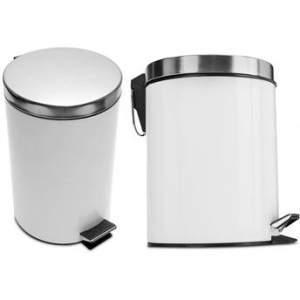 [Walmart] Kit de Lixeiras em Inox Mainstays Premier Branco 2 Peças 3L e 5L - R$60