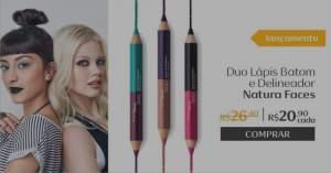 [Natura] Duo Lápis Batom e Delineador Faces - 3g R$ 20,90
