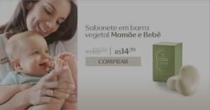 [Natura] Sabonete em Barra Vegetal Mamãe e Bebê - 2und de 100g R$ 14,70