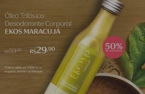 [Natura] Óleo Trifásico Desodorante Corporal Maracujá Ekos - 200ml R$ 29,90