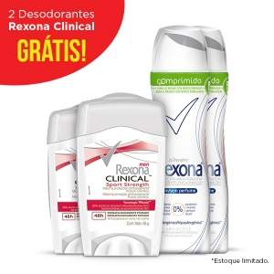 [NETFARMA] Kit Desodorante Rexona Sem Perfume Women Aerosol Comprimido - R$28