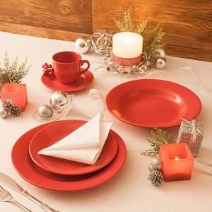 [Americanas] Aparelho de Jantar 20 Pçs Vermelho Natural - Orb Christmas - R$180