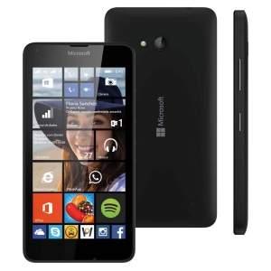 """[Ponto Frio/Microsoft] Smartphone desbloqueado Microsoft Lumia 640 Dual DTV Preto com Windows Phone 8.1, Tela 5"""", 4G - VIVO"""