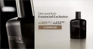 [Natura] Deo Parfum Essencial Exclusivo -R$119 Frete Gratis