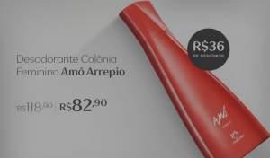 [Natura] Amó Arrepio Desodorante Colônia Feminino - 75ml R$ 82,90