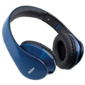 [Clube do Ricardo] Headphone PH02A, Cabo c/ Microfone Embutido Permite Atender/Bloquear Chamadas, Alça de Cabeça Ajustável e Almofadada, Dual Connector, Azul - Philco  por R$35