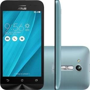 [Shoptime] Smartphone Zenfone Go - Android 5.1 Tela 4,5'' 8GB 3G Câmera 5MP - Azul - R$555