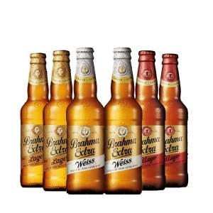 [Empório da Cerveja] Kit Cervejas Brahmas Extras: 2 Red Lager + 2 Lager + 2 Weiss - por R$10