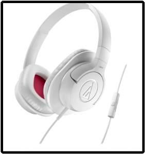 [Saraiva] Fone de Ouvido Supra-Auricular Audio-Technica Ath-Ax1iswh Branco Com Microfone e Controle de Volume  por R$ 95