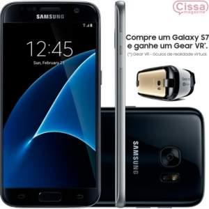 [CISSA MAGAZINE] Compre um Smartphone Samsung Galaxy S7 G930F 32GB 4G Desbloqueado Preto e GANHE 01 óculos Gear VR - R$2790