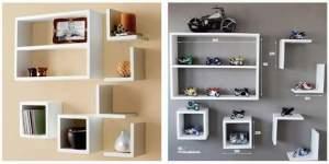 [Shoptime] Nichos Decorativos Em Mdf - Kit 7 Peças  por R$ 54