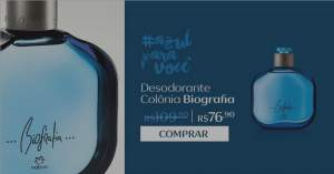 [Natura] Desodorante Colônia Biografia Masculino - 100ml R$ 76,90