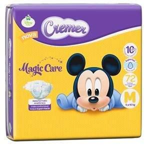 [Extra] Fralda Cremer Disney Baby Magic Care com 72 Unidades – Tamanho M - por R$35