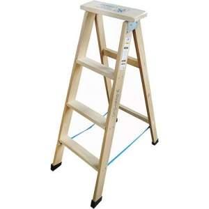 [Americanas] Escada Tesoura Madeira 1,08m 4 Degraus - W Bertolo por R$ 44